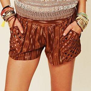 Free People Patola Ikat Lattice Shorts